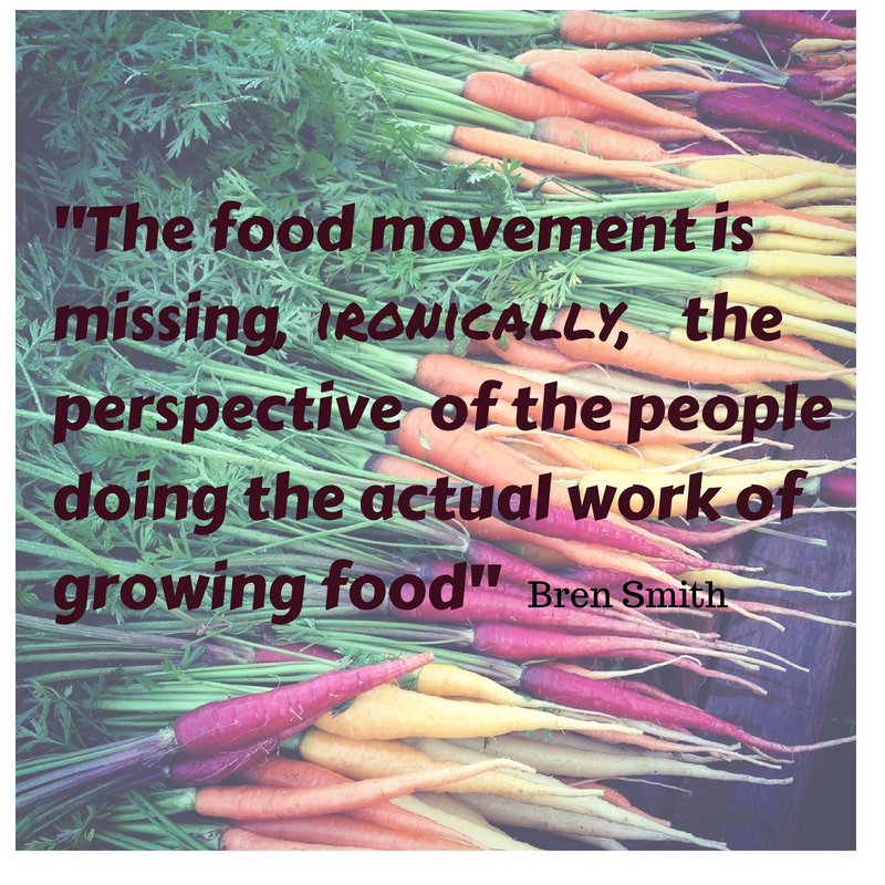 -The food movement is missing,